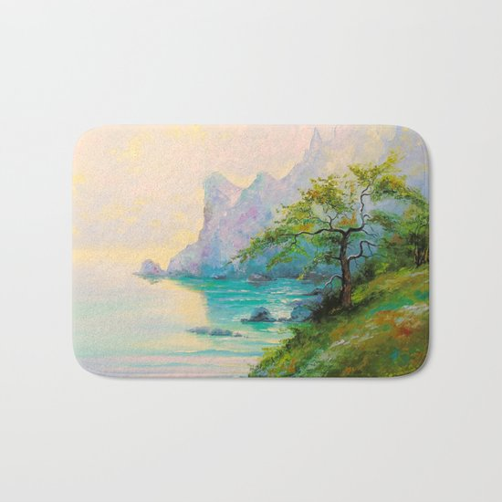 Morning by the sea Bath Mat