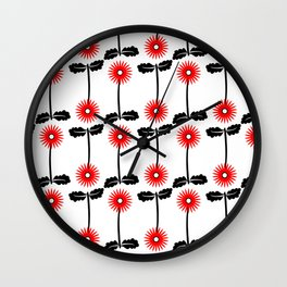 Floral Fancy Collection #1 Wall Clock