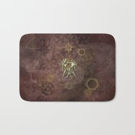 Steampunk Zodiac Gemini Bath Mat