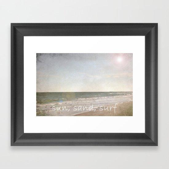 sun, sand, surf Framed Art Print