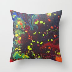 Abstract drops. Throw Pillow