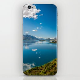Breathtaking View from a famous scenic Lookout at Lake Wakatipu iPhone Skin