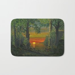 Forest Sunset Bath Mat