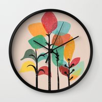 tropical Wall Clocks featuring Tropical Groove by Picomodi