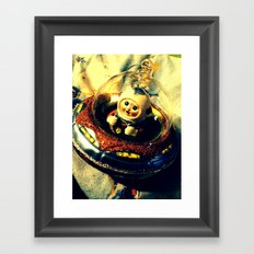 A Flying Saucer Christmas Framed Art Print