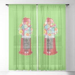 happy pills Sheer Curtain