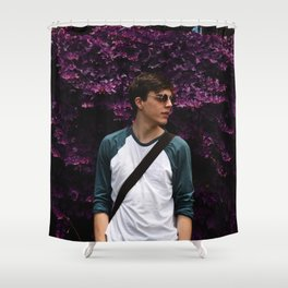 Isaac in Purple Shower Curtain
