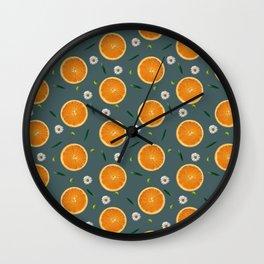 Aliño de naranjas Wall Clock