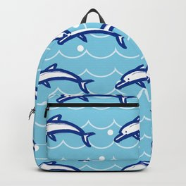 Dolphin on the Sea Wave_C02 Backpack