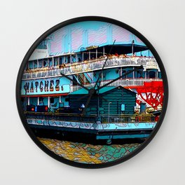 Natchez Riverboat New Orleans Wall Clock