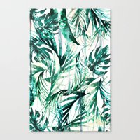 paradise Canvas Prints featuring Green Tropical paradise  by Nikkistrange