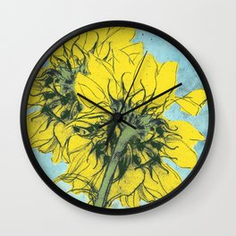 The sunflowers moment Wall Clock