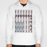 american flag Hoodies featuring American Flag by sophiabrooks