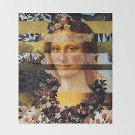 Leonardo Da Vinci'sMona Lisa & Botticelli's Venus Throw Blanket