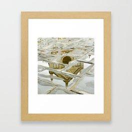 Santa Croce Reflection Framed Art Print
