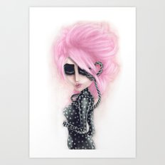 Pinkanhy Polka Art Print