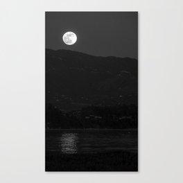 Moonrise, UC Santa Barbara Canvas Print