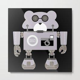 Robot Alpha 60 (Hommage à Jean-Luc Godard) Metal Print