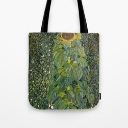 The Sunflower (and wildflowers) by Gustav Klimt Tote Bag