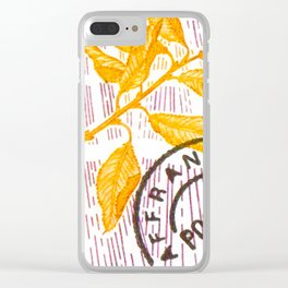 Branch of a cherry tree in autumn Clear iPhone Case