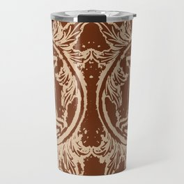 Chocolate Asheville Stags a Leaping Travel Mug