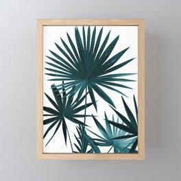 Fan Palm Leaves Jungle #1 #tropical #decor #art #society6 Framed Mini Art Print