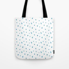Blush blue modern watercolor abstract geometrical V pattern Tote Bag