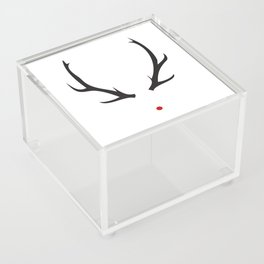 Minimalist Rudolph with red nose Acrylic Box