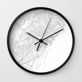 Barcelona, Spain Minimalist Map Wall Clock