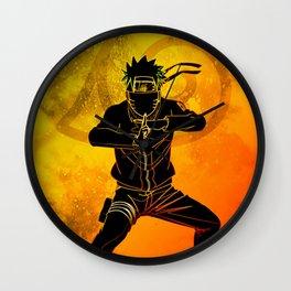 Ninja jutsu Wall Clock