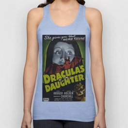 Dracula´s Daughter, vintage horror movie poster Unisex Tank Top