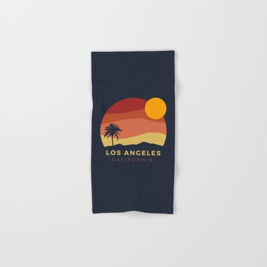 Los Angeles Sunset Hand & Bath Towel