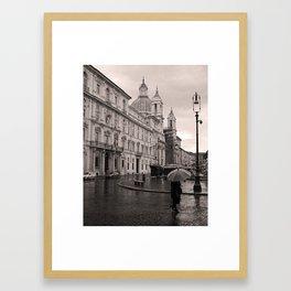 Piazza Navona, Rome, Italy Framed Art Print