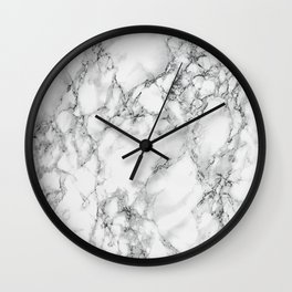white marble IV Wall Clock