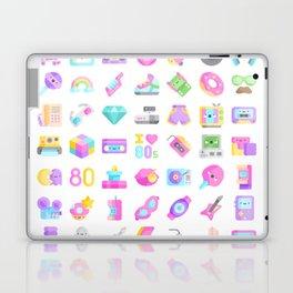 CUTE '80S PATTERN (RETRO THROWBACK EIGHTIES) Laptop & iPad Skin