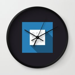 "Dice ""eight"" with long shadow in new modern flat design Wall Clock"