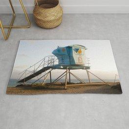 Malibu California Lifeguard Tower Rug