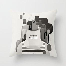 Le scalpé Throw Pillow