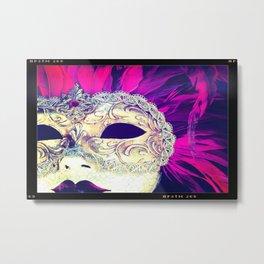 Venetian Women Of Mystery Mask Metal Print