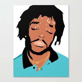 Lil Uzi Portrait (White) Canvas Print