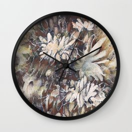 Night Garden I Wall Clock