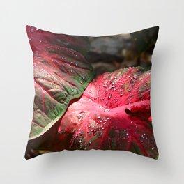 Tropical Rain - Botanical Art by Sharon Cummings Throw Pillow