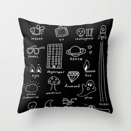 Things that Glow Throw Pillow