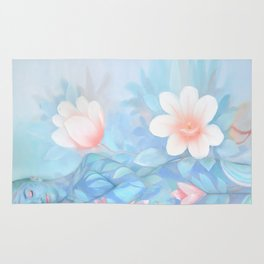 Blue Flowers Dream - Bodyart - Photography by Lana Chromium - beauty - woman - body - soul Rug