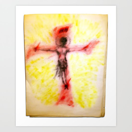 Crucified...for us Art Print