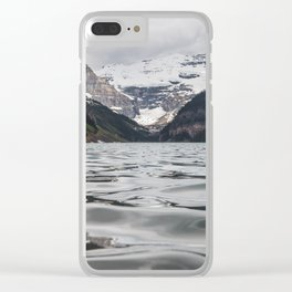 Lake Louise Mountain View Clear iPhone Case