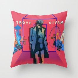 TALKIE BOY TOUR PINK Throw Pillow
