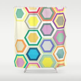 Honeycomb Layers II Shower Curtain