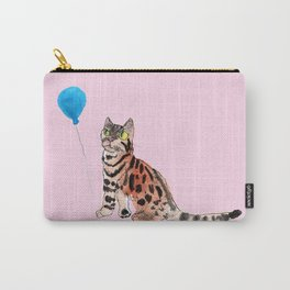 Cat and Balloon Carry-All Pouch
