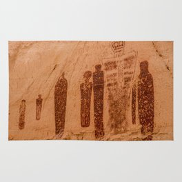 Great Gallery Holy Ghost Pictograph - Canyonlands National Park Rug